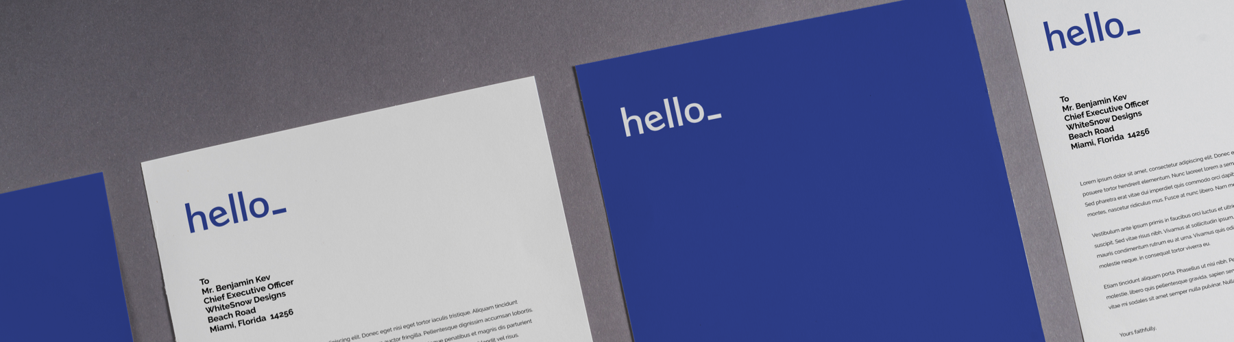 Attractive letterheads: Examples and explanation