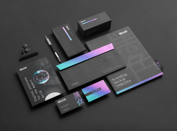Bold Colour Gradients | The Latest Trends in Branded Stationery [2019]