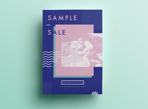 Un minimalisme coloré   8 Design de flyers pour s'inspirer