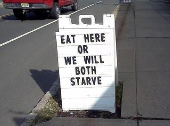 Guilt Trips | 8 Funny Pavement Signs