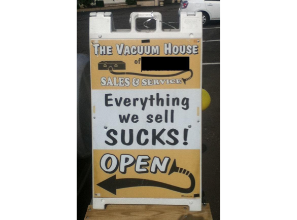It Should Suck | 8 Funny Pavement Signs