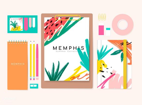 Le Design Memphis | Les tendances de 2019 en matière de papeterie