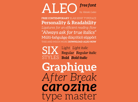 Aleo | Top Fonts to Use on Posters