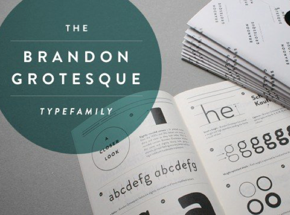 Brandon Grotesque | Top Fonts to Use on Posters