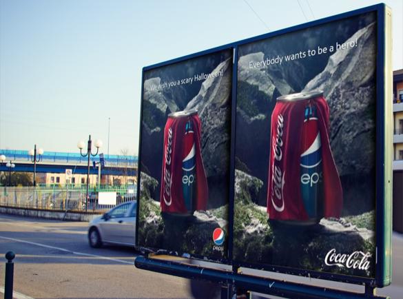 Pepsi Vs Coca Cola Halloween Ad.5 Great Advertising Wars Between Big Brands Helloprint Blog