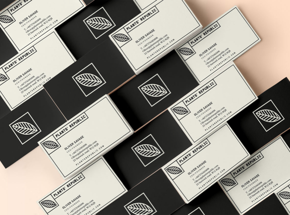 9. Geometric and Organic | 9 Examples of Good Business Cards