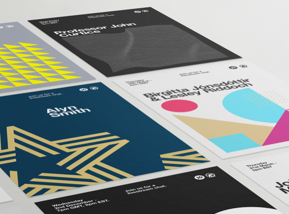 5. Go Geometric | 9 Flyer Ideas to Get You Started