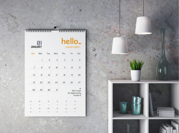 Les calendriers imprimés, ce cadeau intelligent à long terme | Publicité sur l'année