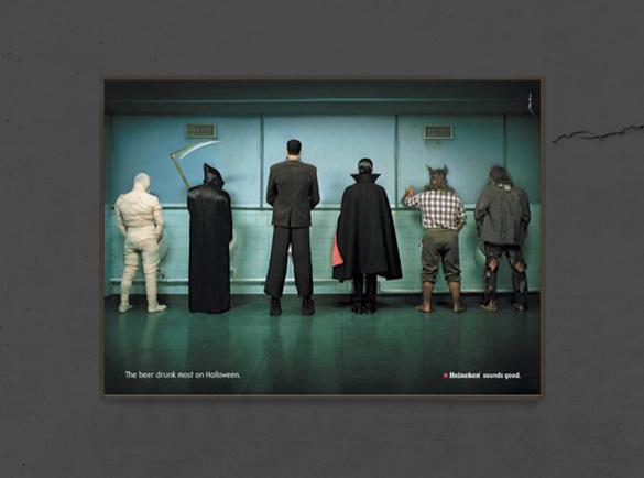 7 Spooktacular Halloween Print Advertisements | 3. Monster Gathering