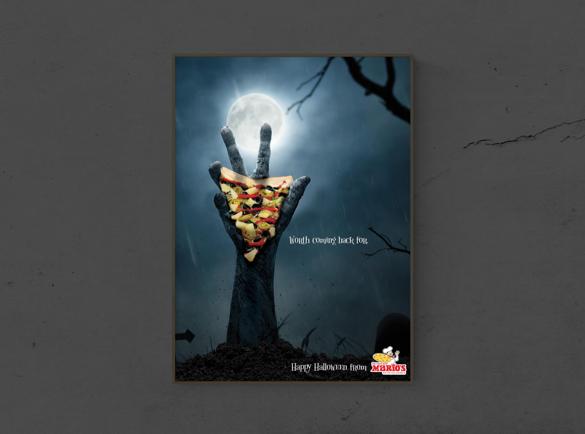7 Spooktacular Halloween Print Advertisements | 5. The Graveyard's delight