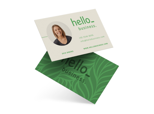 business cards from recycled paper